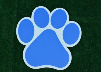 G-400 Blue Paw Print Yard or School Display Sign