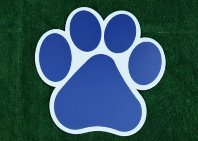 G-401 Navy Paw Print Yard or School Sign
