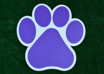 G-402 Purple Paw Print Yard or School Event Sign