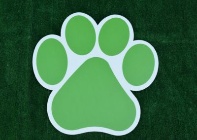 G-403 Green Paw Print Lawn or School Sign