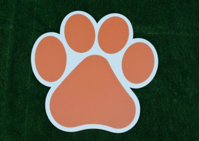 G-404 Orange Paw Print Yard or School Event Sign