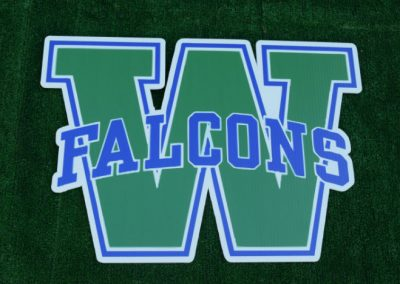 G-409 Woodinville High School Falcons Yard Sign