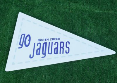 G-414 Go North Creek Jaguars White Flag Yard Sign