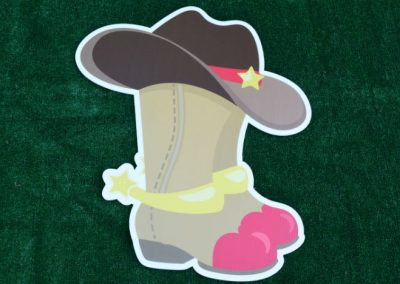 G-504 Cowboy Boots Hat Western Lawn Sign