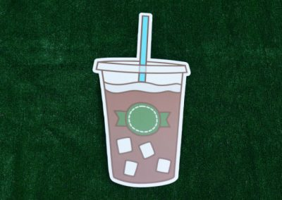 G-507 Coffee Cup with Sugar Cubes Lawn Sign
