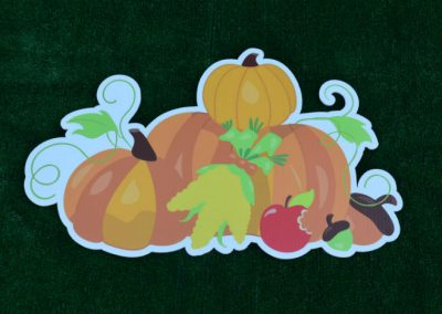 G-512 Pumpkins Fall Halloween Thanksgiving Yard Sign