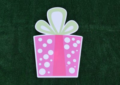 G-59 Pink Polka Dot Present Birthday Yard Sign