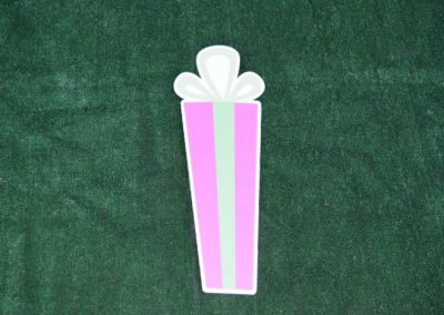 G-60 Tall Skinny Pink Green Birthday Gift Yard Sign