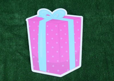 G-76 Pink Blue Gift Birthday Yard Sign