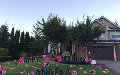 Celebrate A Friends 40th Birthday With Funny Happy Yard Sign Display