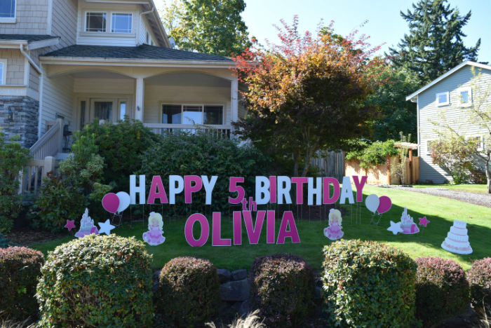 Princess Birthday Yard Signs rev