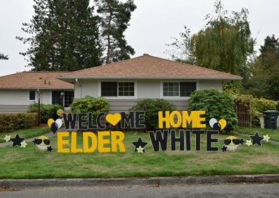 Welcome Home Signs Black Yellow Yard Signs