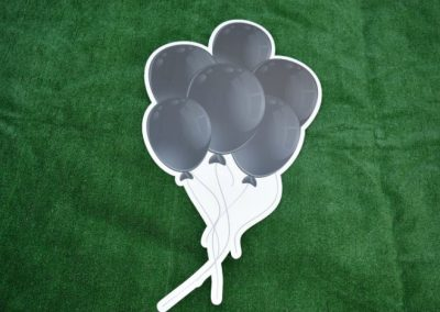 Black Balloon Bouquet Yard Sign G-647