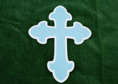 Blue Cross Religious Yard Sign G-614