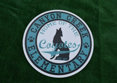 Canyon Creek Coyotes Yard Sign G-424