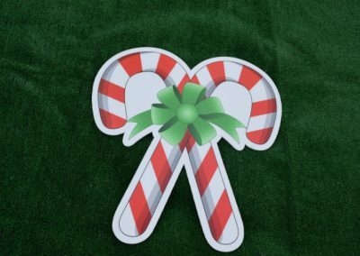 Christmas Candy Cane Yard Signs G-625
