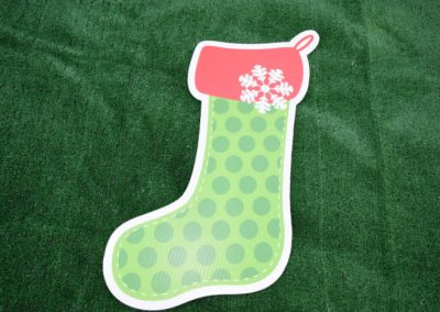 Green Stocking Christmas Yard Sign G-618