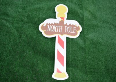 North Pole Christmas Yard Sign G-621