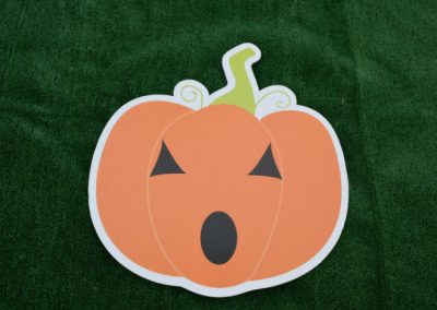 Orange Pumpkin Fall Halloween Yard Sign G-626