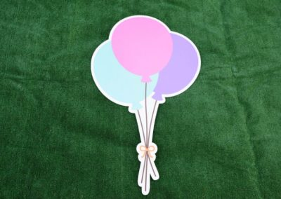 Pink Blue Purple Balloon bouquet G-646