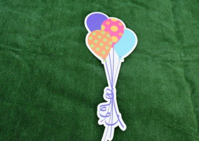 Polka Dot Balloon Bouquet Yard Signs G-648