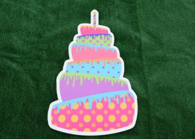 Polka Dot Birthday Cake Yard Sign G-607