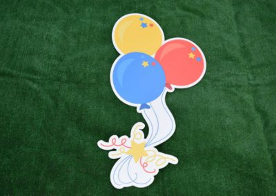 Primary Color Balloon Bouquet Yard Signs G-649