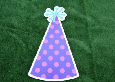 Purple Polka Dot Birthday Hat Yard Sign G-608