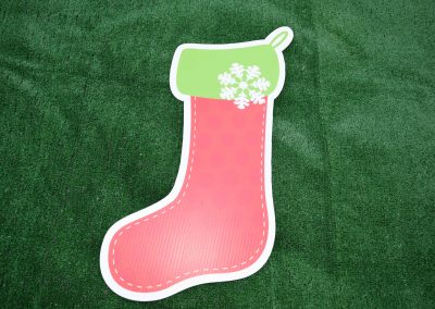 Red Stocking Christmas Yard Sign G-622
