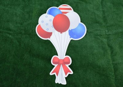 Red White Blue Balloon Bouquet Yard Sign G-645