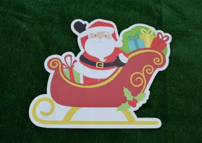 Santa Sleigh Christmas Yard Sign G-623