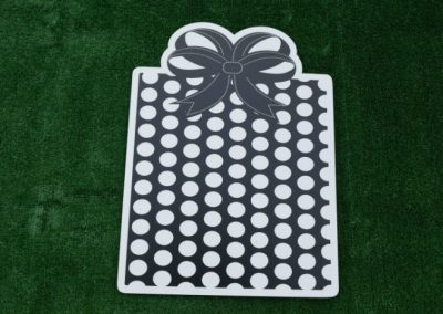 Black White Gift Birthday Yard Sign