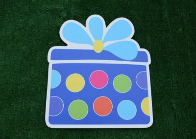 Blue Polka Dot Birthday Gift Yard Sign