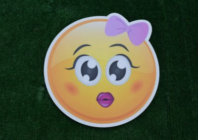 Girls Emoji Yard Sign