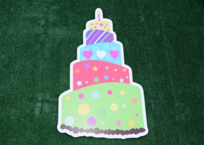 Green Red Blue Yellow Birthday Cake Yard Sign