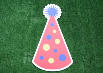 Red Polka Dot Birthday Hat Yard Sign