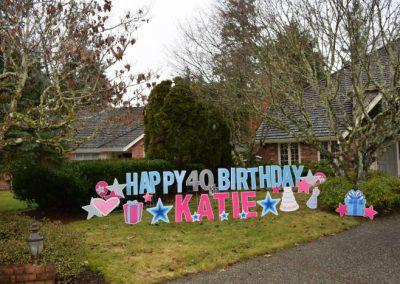 40th Birthday Blue Pink Yard Signs