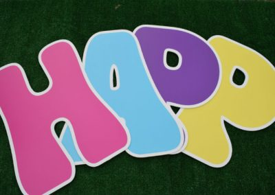 L- 30 Happy Birthday Mixed Bright Colors Letter Signs