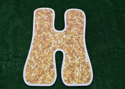 L-34 Gold Glitter Letters Happy Birthday Yard Signs