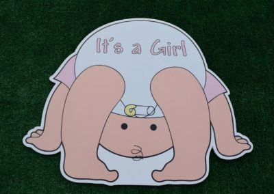 Its a Girl New Baby Yard Signs