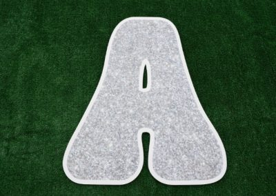 L-13 Silver Glitter Letters