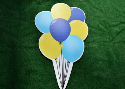 Blue Green Balloon Bouquet Yard Sign