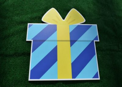 Blue Green Birthday Present Yard Sign
