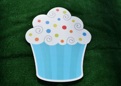 Blue White Cupcake Yard Sign