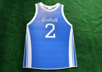 Bothell High School Cougars Basketball Jersey Yard Sign