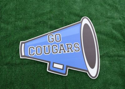 Bothell High School Cougars Megaphone Cheer Spirit Yard Sign