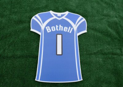 Bothell High School Cougars Sports Jersey Yard Sign