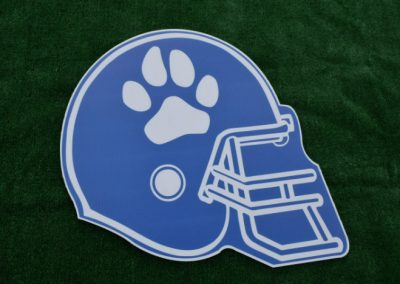 Bothell High School Football Helmet Cougars Yard Sign