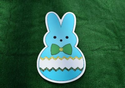 Easter Blue Bunny Peep Yard Sign