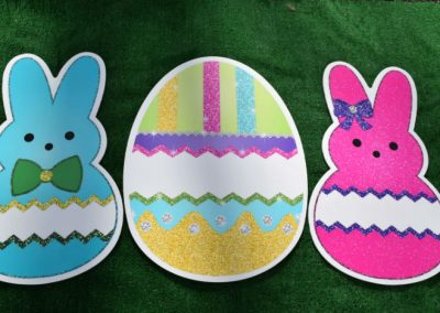 Easter Egg Bunny Yard Signs